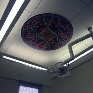 Escher kunstafbeelding om als patient tijdens de behandeling te bekijken